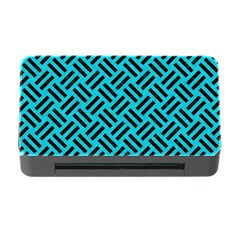 Woven2 Black Marble & Turquoise Colored Pencil Memory Card Reader With Cf by trendistuff