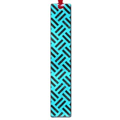 Woven2 Black Marble & Turquoise Colored Pencil Large Book Marks by trendistuff