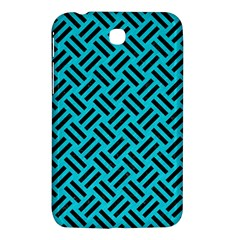 Woven2 Black Marble & Turquoise Colored Pencil Samsung Galaxy Tab 3 (7 ) P3200 Hardshell Case  by trendistuff