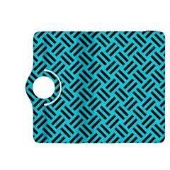 Woven2 Black Marble & Turquoise Colored Pencil Kindle Fire Hdx 8 9  Flip 360 Case by trendistuff