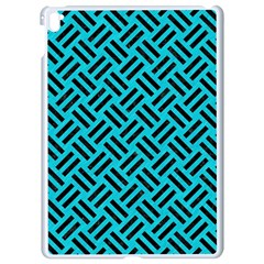 Woven2 Black Marble & Turquoise Colored Pencil Apple Ipad Pro 9 7   White Seamless Case by trendistuff