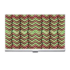 Zig Zag Multicolored Ethnic Pattern Business Card Holders by dflcprintsclothing