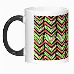 Zig Zag Multicolored Ethnic Pattern Morph Mugs by dflcprintsclothing