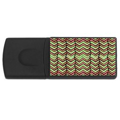 Zig Zag Multicolored Ethnic Pattern Rectangular Usb Flash Drive by dflcprintsclothing
