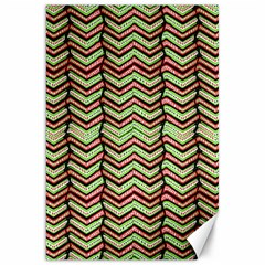 Zig Zag Multicolored Ethnic Pattern Canvas 20  X 30   by dflcprintsclothing