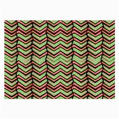 Zig Zag Multicolored Ethnic Pattern Large Glasses Cloth (2 Side) by dflcprintsclothing