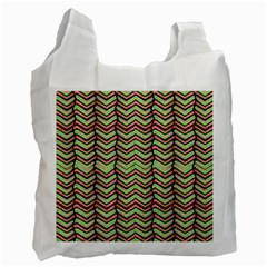 Zig Zag Multicolored Ethnic Pattern Recycle Bag (one Side) by dflcprintsclothing