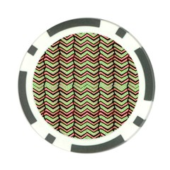 Zig Zag Multicolored Ethnic Pattern Poker Chip Card Guard (10 Pack) by dflcprintsclothing