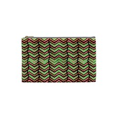 Zig Zag Multicolored Ethnic Pattern Cosmetic Bag (small)  by dflcprintsclothing