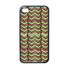 Zig Zag Multicolored Ethnic Pattern Apple Iphone 4 Case (black) by dflcprintsclothing
