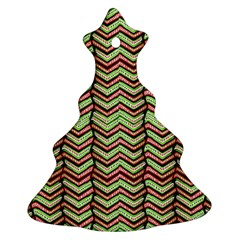 Zig Zag Multicolored Ethnic Pattern Ornament (christmas Tree)  by dflcprintsclothing