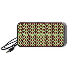 Zig Zag Multicolored Ethnic Pattern Portable Speaker by dflcprintsclothing