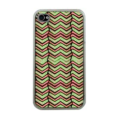 Zig Zag Multicolored Ethnic Pattern Apple Iphone 4 Case (clear) by dflcprintsclothing