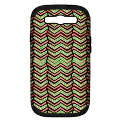 Zig Zag Multicolored Ethnic Pattern Samsung Galaxy S Iii Hardshell Case (pc+silicone) by dflcprintsclothing