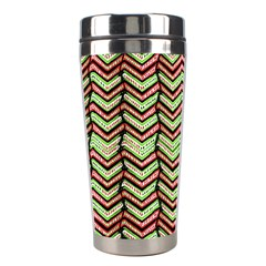 Zig Zag Multicolored Ethnic Pattern Stainless Steel Travel Tumblers by dflcprintsclothing