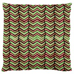 Zig Zag Multicolored Ethnic Pattern Standard Flano Cushion Case (one Side) by dflcprintsclothing