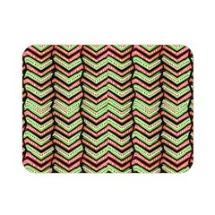Zig Zag Multicolored Ethnic Pattern Double Sided Flano Blanket (mini)  by dflcprintsclothing