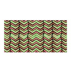 Zig Zag Multicolored Ethnic Pattern Satin Wrap by dflcprintsclothing