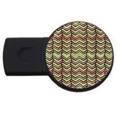 Zig Zag Multicolored Ethnic Pattern Usb Flash Drive Round (2 Gb) by dflcprintsclothing