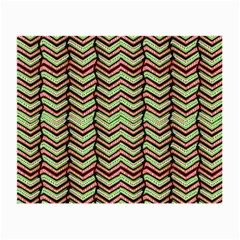 Zig Zag Multicolored Ethnic Pattern Small Glasses Cloth by dflcprintsclothing
