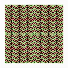 Zig Zag Multicolored Ethnic Pattern Medium Glasses Cloth by dflcprintsclothing