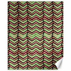 Zig Zag Multicolored Ethnic Pattern Canvas 11  X 14   by dflcprintsclothing