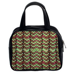 Zig Zag Multicolored Ethnic Pattern Classic Handbags (2 Sides) by dflcprintsclothing