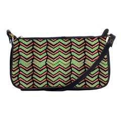 Zig Zag Multicolored Ethnic Pattern Shoulder Clutch Bags by dflcprintsclothing