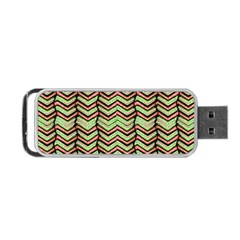 Zig Zag Multicolored Ethnic Pattern Portable Usb Flash (one Side) by dflcprintsclothing