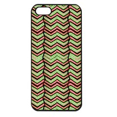 Zig Zag Multicolored Ethnic Pattern Apple Iphone 5 Seamless Case (black) by dflcprintsclothing