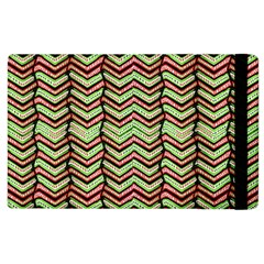 Zig Zag Multicolored Ethnic Pattern Apple Ipad 2 Flip Case by dflcprintsclothing