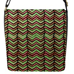 Zig Zag Multicolored Ethnic Pattern Flap Messenger Bag (s) by dflcprintsclothing