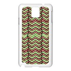 Zig Zag Multicolored Ethnic Pattern Samsung Galaxy Note 3 N9005 Case (white) by dflcprintsclothing