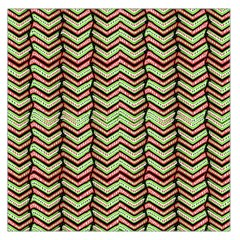 Zig Zag Multicolored Ethnic Pattern Large Satin Scarf (square) by dflcprintsclothing