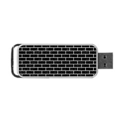 Brick1 Black Marble & White Leather (r) Portable Usb Flash (two Sides) by trendistuff