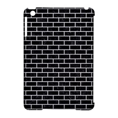 Brick1 Black Marble & White Leather (r) Apple Ipad Mini Hardshell Case (compatible With Smart Cover) by trendistuff