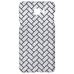 Brick2 Black Marble & White Leather Samsung C9 Pro Hardshell Case  by trendistuff