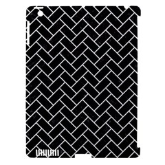 Brick2 Black Marble & White Leather (r) Apple Ipad 3/4 Hardshell Case (compatible With Smart Cover) by trendistuff