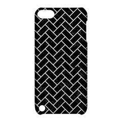 Brick2 Black Marble & White Leather (r) Apple Ipod Touch 5 Hardshell Case With Stand