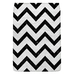 Chevron9 Black Marble & White Leather Flap Covers (s)  by trendistuff