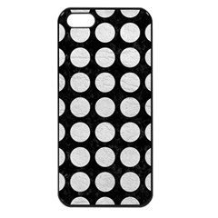 Circles1 Black Marble & White Leather (r) Apple Iphone 5 Seamless Case (black) by trendistuff