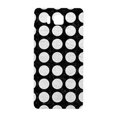 Circles1 Black Marble & White Leather (r) Samsung Galaxy Alpha Hardshell Back Case