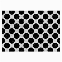 Circles2 Black Marble & White Leather Large Glasses Cloth (2 Side) by trendistuff