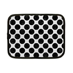 Circles2 Black Marble & White Leather Netbook Case (small)  by trendistuff