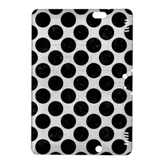 Circles2 Black Marble & White Leather Kindle Fire Hdx 8 9  Hardshell Case by trendistuff