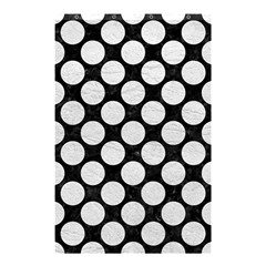 Circles2 Black Marble & White Leather (r) Shower Curtain 48  X 72  (small)  by trendistuff