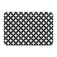Circles3 Black Marble & White Leather Plate Mats by trendistuff