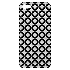 Circles3 Black Marble & White Leather Apple Iphone 5 Hardshell Case by trendistuff