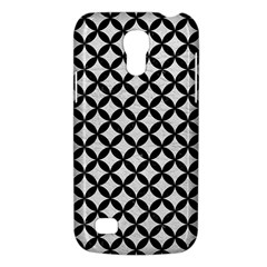 Circles3 Black Marble & White Leather Galaxy S4 Mini