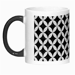 Circles3 Black Marble & White Leather (r) Morph Mugs by trendistuff